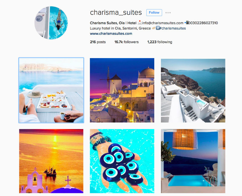 Charisma Suites Instagram For Tourism Marketing