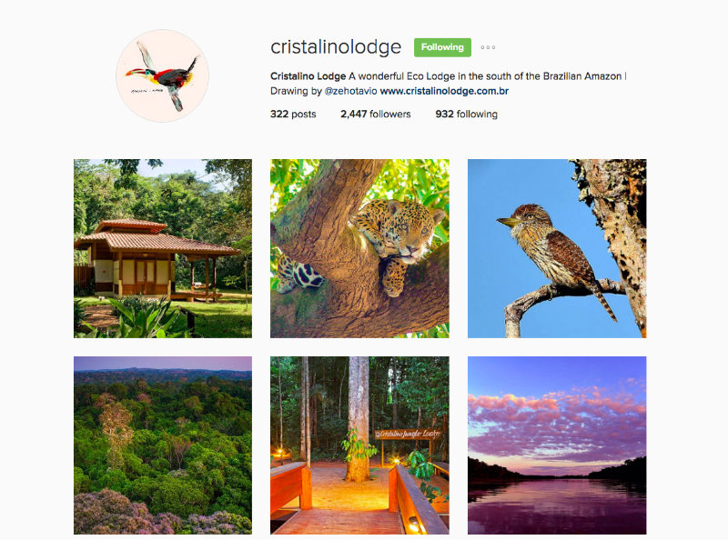 Cristalino Lodge Instagram For Tourism Marketing
