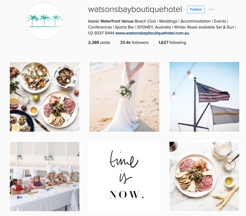 Watsons Bay Boutique Hotel Instagram For Tourism Marketing